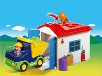 Playmobil 1.2.3 6759 Camion avec garage-Image 1