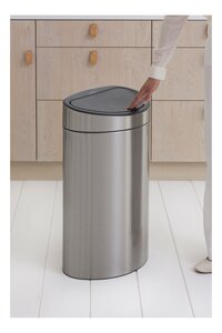 Brabantia Poubelle Touch Bin matt steel FPP 40 l-Détail de l'article