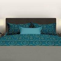 Romanette Drap de lit Libby turquoise flanelle 180 x 290 cm-commercieel beeld