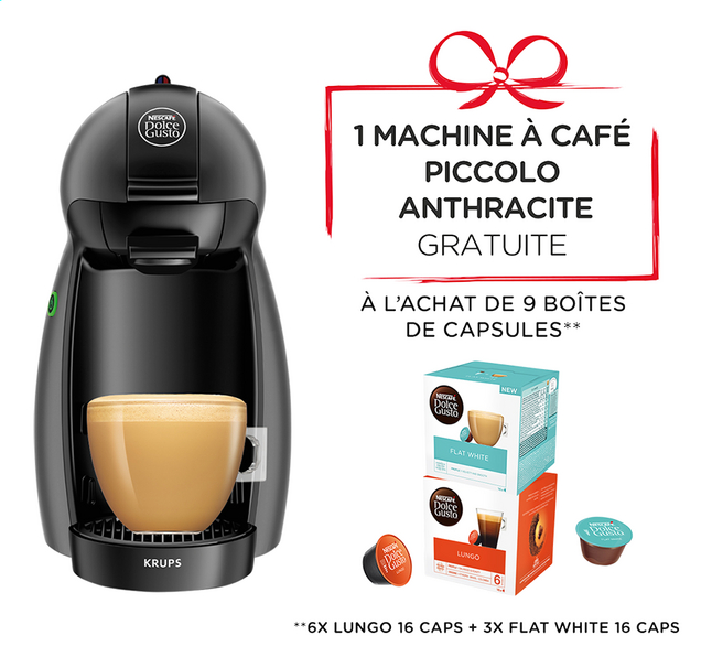 nescaf 9 bo tes de capsules dolce gusto avec machine espresso gratuite collishop. Black Bedroom Furniture Sets. Home Design Ideas