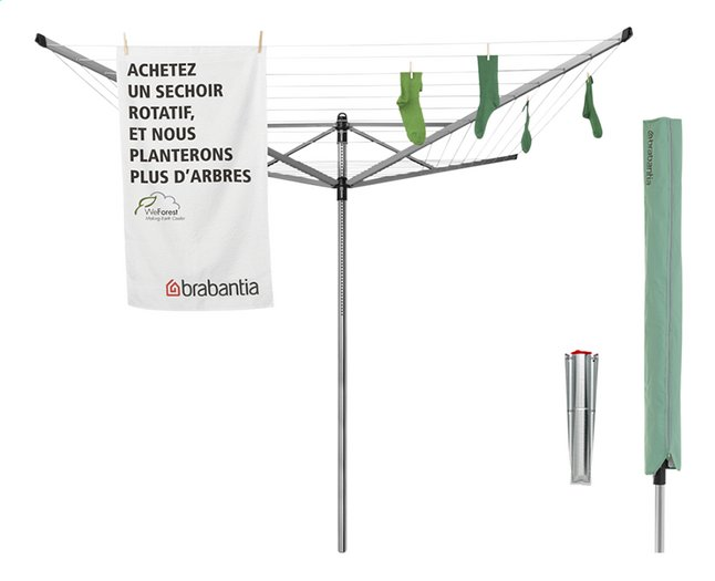 Image pour Brabantia Séchoir-parapluie Lift-o-Matic 60 m avec housse à partir de ColliShop