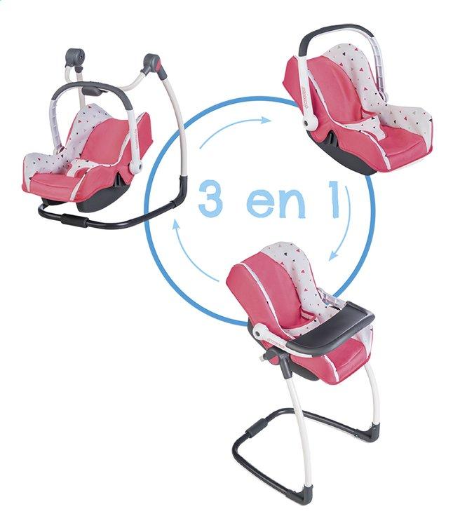 Smoby chaise haute 3 en 1 Maxi-Cosi rose