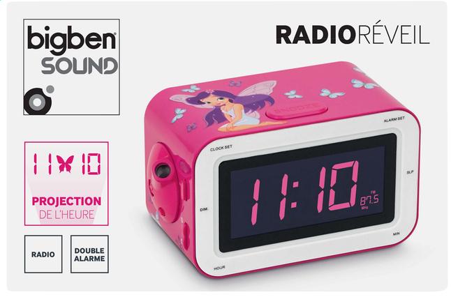 Image pour Bigben radio-réveil RR30 rose motif fée à partir de ColliShop