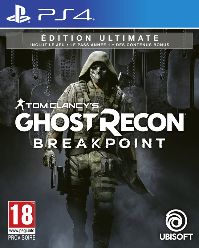 Image pour PS4 Tom Clancy's Ghost Recon Breakpoint Ultimate Edition FR/ANG à partir de ColliShop