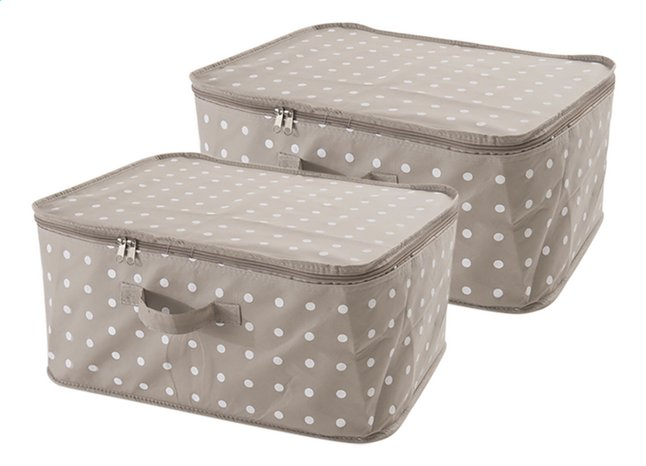 Compactor 2 boîtes de rangement zippées Brown Rivoli