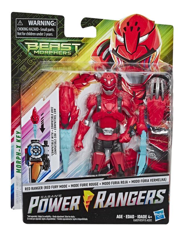 Afbeelding van Actiefiguur Power Rangers Beast Morphers - Red Ranger Red Fury Mode from ColliShop