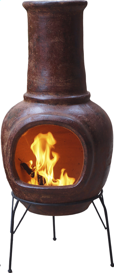 Afbeelding van Mexicaanse chimenea medium roodbruin from ColliShop