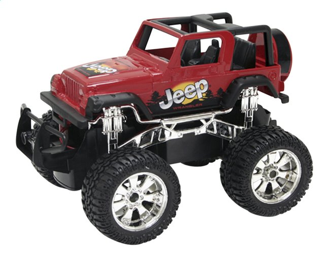 Afbeelding van New Bright jeep RC Jeep Wrangler rood from ColliShop
