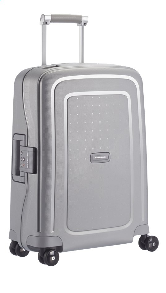 Afbeelding van Samsonite Harde reistrolley S'Cure Spinner silver 55 cm from ColliShop