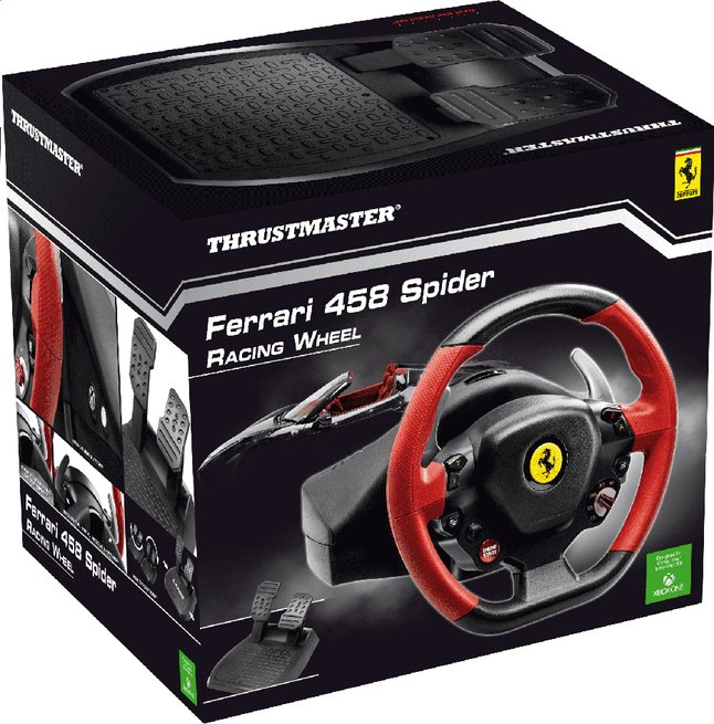 Afbeelding van XBOX One Racing Wheel Ferrari 458 Spider met pedalen from ColliShop