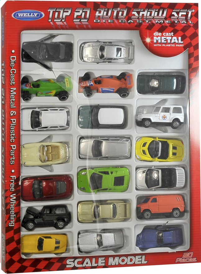 Image pour Set de 20 voitures en métal à partir de ColliShop