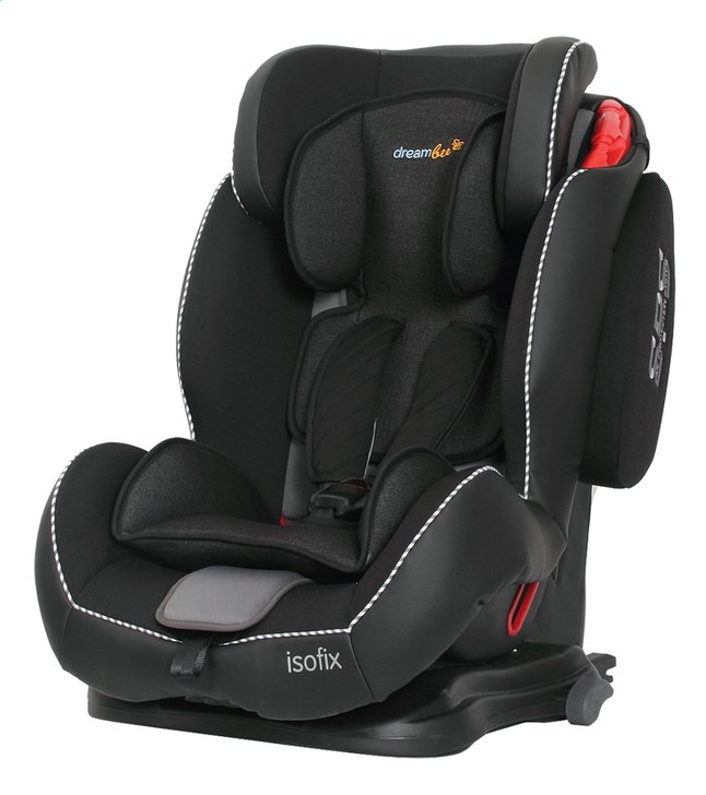 dreambee si ge auto essentials isofix groupe 1 2 3 noir collishop. Black Bedroom Furniture Sets. Home Design Ideas