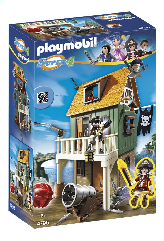 Afbeelding van Playmobil Super 4 4796 Geheime piratenvesting met Ruby Red from ColliShop