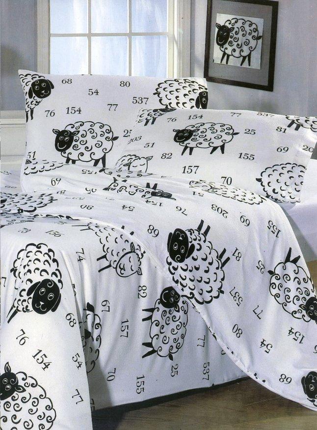 Image pour Sleepnight Housse de couette Moutons 8000 coton 140 x 220 cm à partir de ColliShop