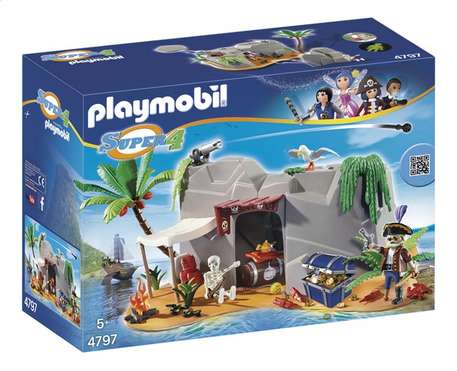 Afbeelding van Playmobil Super 4 4797 Piratenschuiplaats from ColliShop