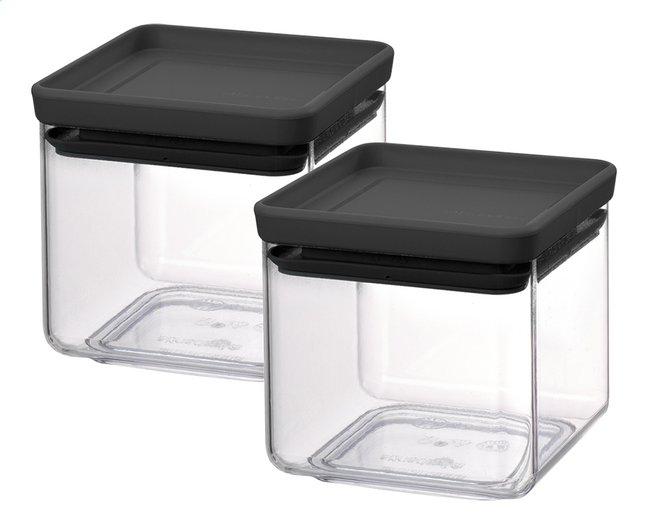 Image pour Brabantia 2 boîtes à provisions Tasty+ dark grey 0,7 l à partir de ColliShop
