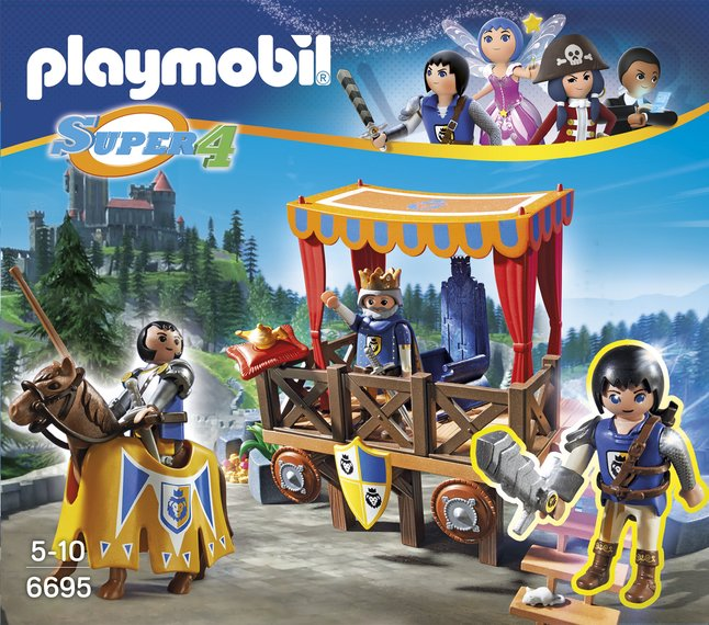 Image pour Playmobil Super 4 6695 Tribune royale avec Alex à partir de ColliShop