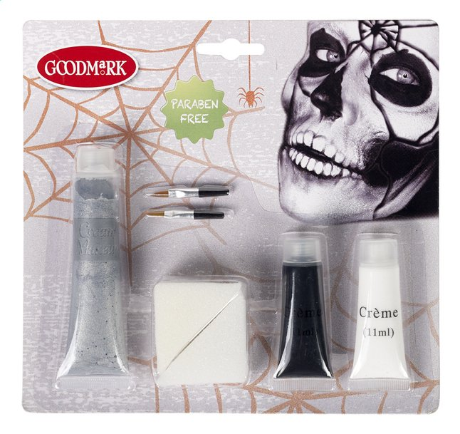Afbeelding van Goodmark make-upset gebarsten schedel from ColliShop