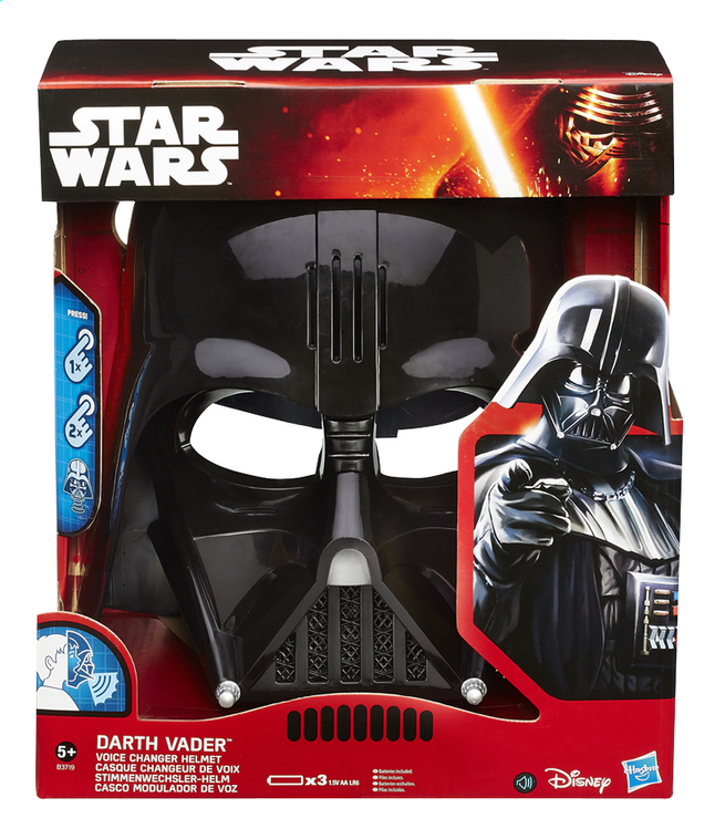 Image pour Masque Star Wars Darth Vader Casque changeur de voix à partir de ColliShop