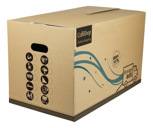 Image pour Boîte de déménagement beige 80,5 l - 10 pièces à partir de ColliShop