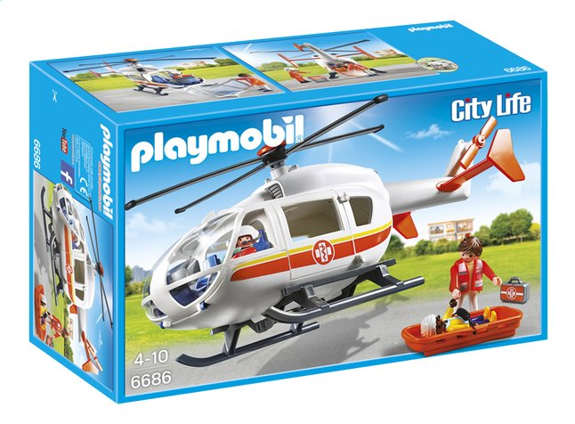 Afbeelding van Playmobil City Life 6686 Traumahelikopter from ColliShop