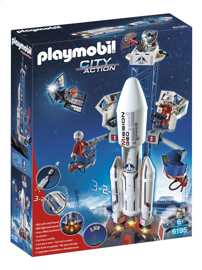 Afbeelding van Playmobil City Action 6195 Lanceerbasis met raket from ColliShop