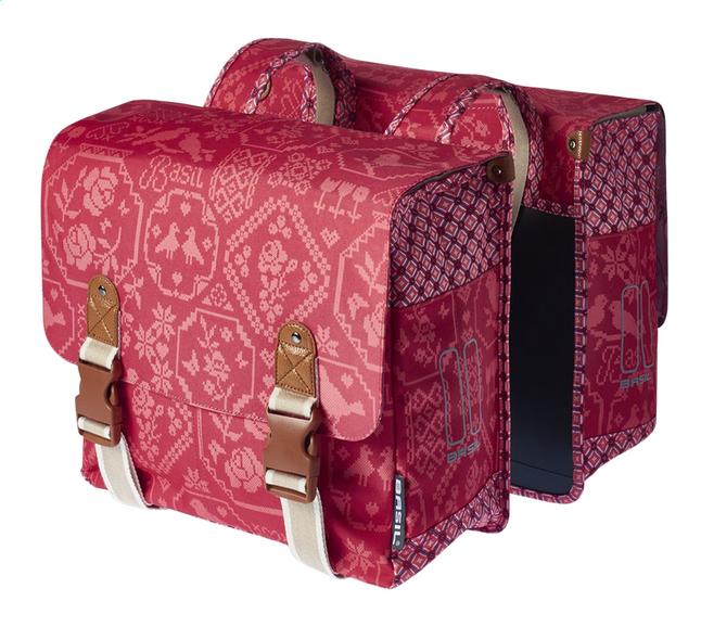 Image pour Basil double sac pour vélo Bohème Vintage Red à partir de ColliShop