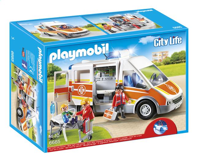 Image pour Playmobil City Life 6685 Ambulance avec gyrophare et sirène à partir de ColliShop