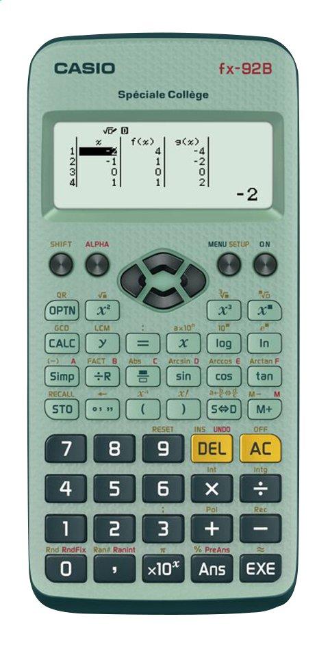 Image pour Casio calculatrice FX 92 B Special College à partir de ColliShop