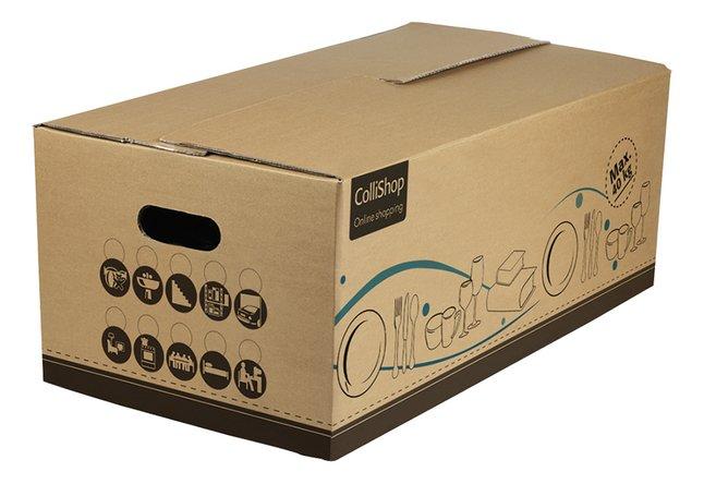Afbeelding van Set van 5 kartonnen servies-/boekendozen 50 l from ColliShop