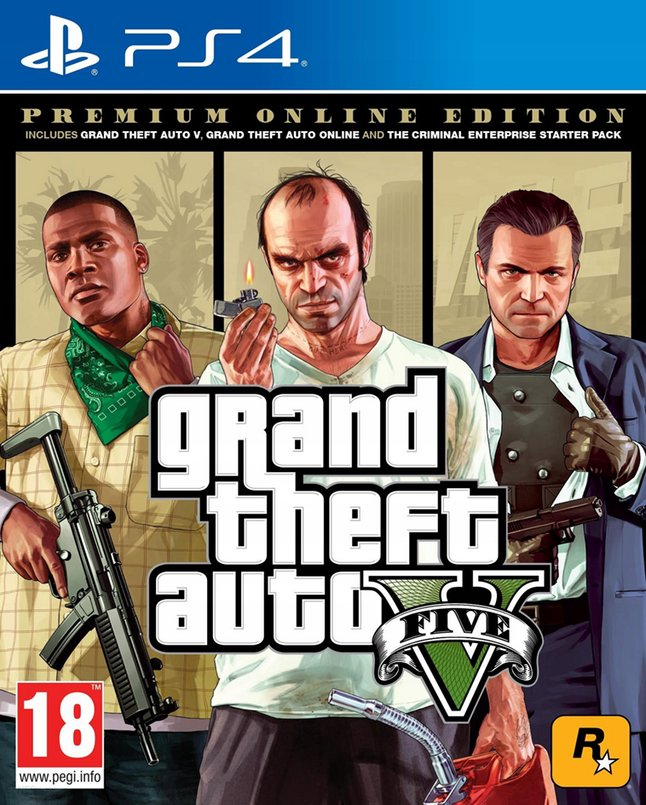 PS4 Grand Theft Auto V Premium Online Edition ENG