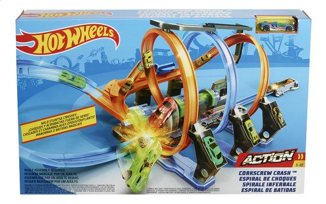 Hot Wheels acrobatische racebaan Corkscrew Crash