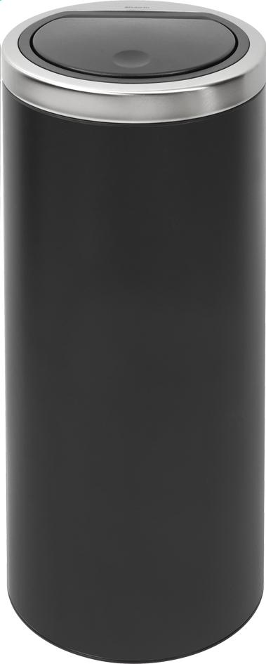 Afbeelding van Brabantia afvalemmer Touch Bin 30 l mat zwart from ColliShop