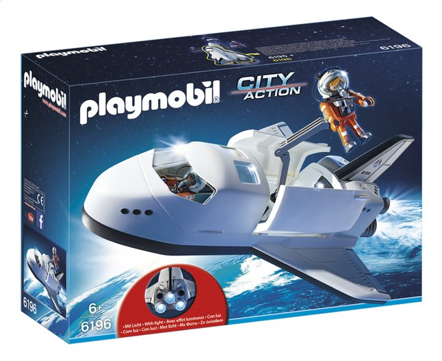 Afbeelding van Playmobil City Action 6196 Space Shuttle met bemanning from ColliShop