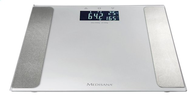Afbeelding van Medisana Personenweegschaal/vetmeter BS 410 Connect grijs/wit from ColliShop