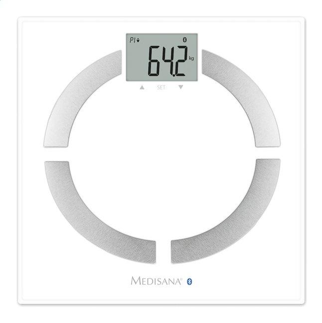 Afbeelding van Medisana Personenweegschaal/vetmeter BS444 connect zilver/wit from ColliShop