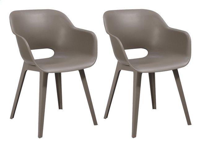 Chaise 2 de Allibert cappuccino pièces jardin Akola nk0wOP