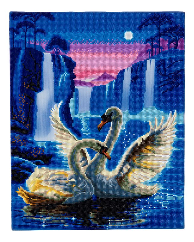 Afbeelding van Craft Buddy Crystal Art kit Moonlight Swans from ColliShop