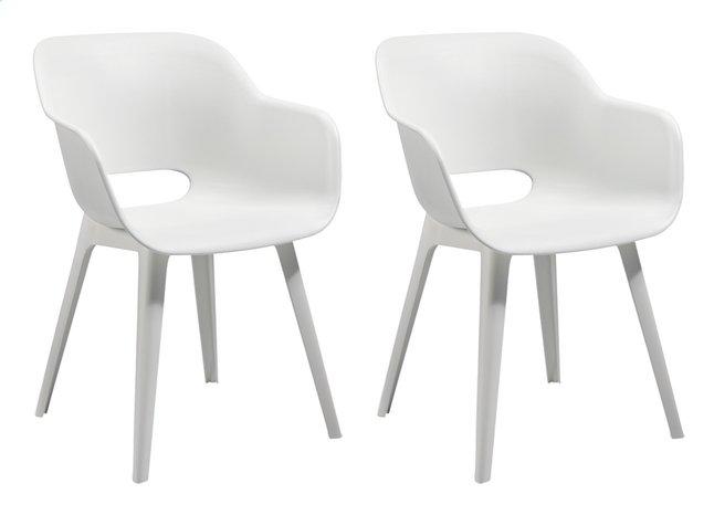 Allibert Chaise de jardin Akola blanc - 2 pièces