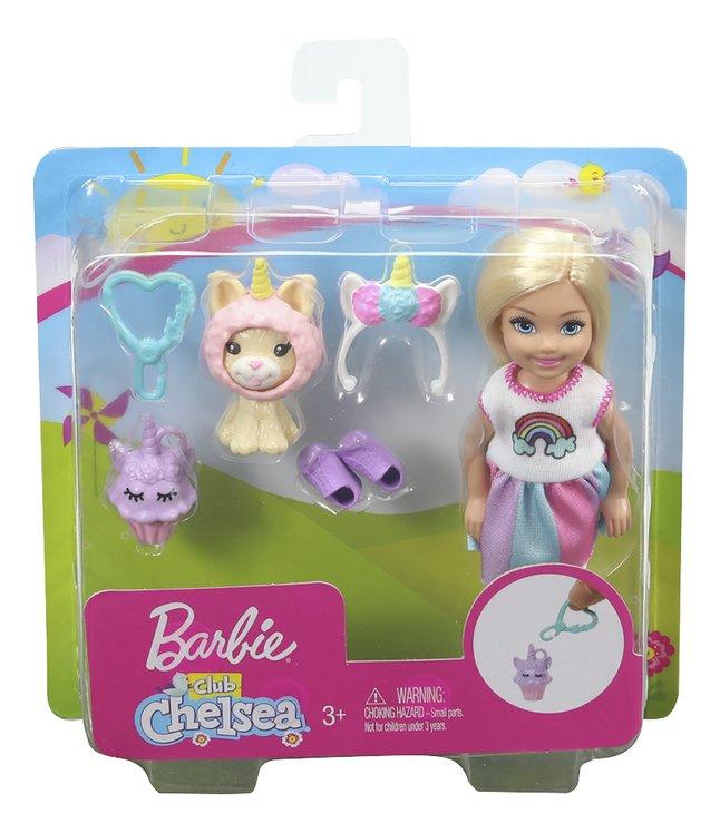 Barbie Club Chelsea verkleedt zich in een eenhoorn
