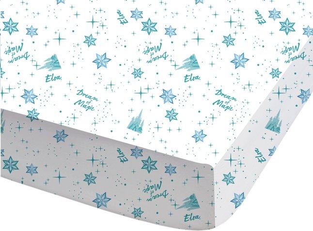 Image pour Drap-housse Disney La Reine des Neiges Dream blanc/bleu coton Lg 90 x L 190 cm à partir de ColliShop