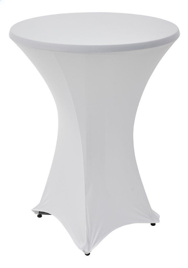 Image pour Housse stretch pour mange debout blanc Ø 80 cm à partir de ColliShop