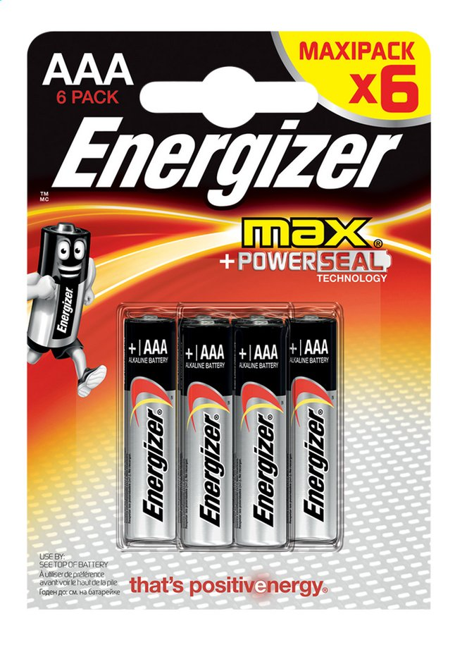 Afbeelding van Energizer Max 6 AAA-batterijen from ColliShop