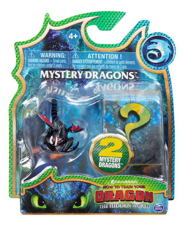 Afbeelding van Figuur How to Train Your Dragon 3 Mystery Dragons - Hookfang zwart from ColliShop