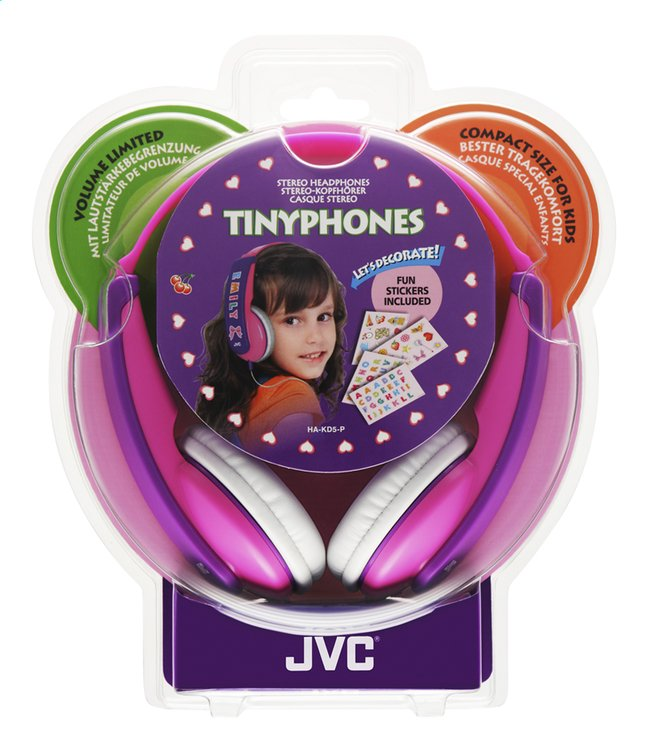Afbeelding van JVC hoofdtelefoon HA-KD5 voor kinderen roze/paars from ColliShop