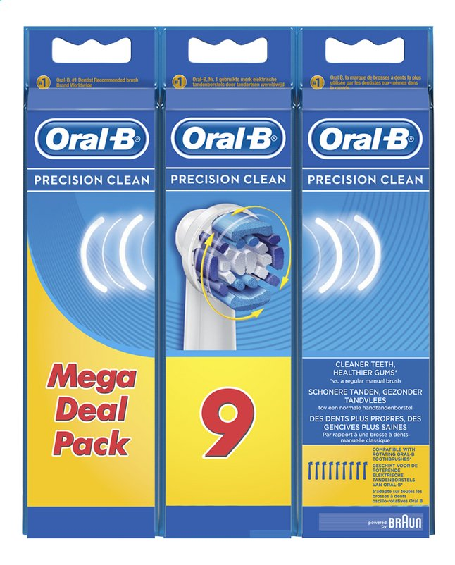 Image pour Oral-B Brossette de rechange Precision Clean - 9 pièces à partir de ColliShop