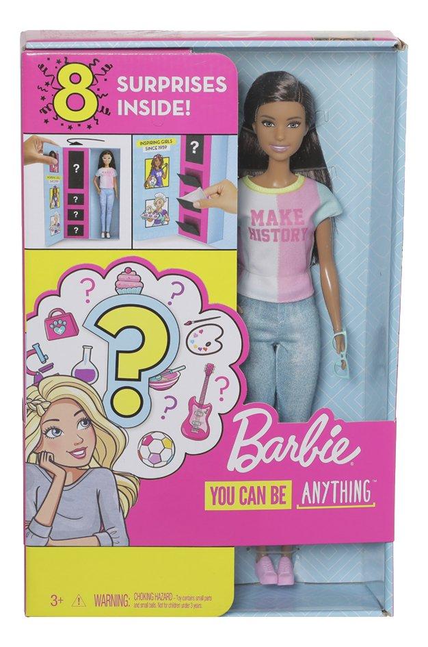 Barbie poupée mannequin Careers Surprise - Make History