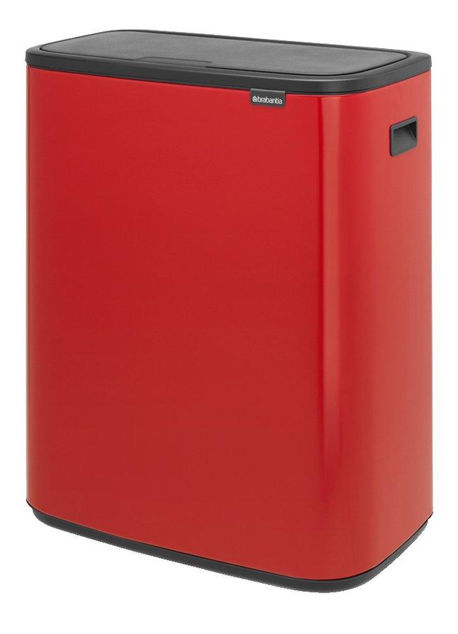 Brabantia Poubelle Touch Bin Bo passion red 2 x 30 l