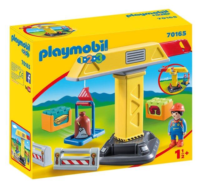 PLAYMOBIL 1.2.3 70165 Grue de chantier
