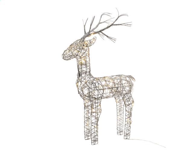 Image pour Animal lumineux LED cerf blanc chaud H 83 cm à partir de ColliShop
